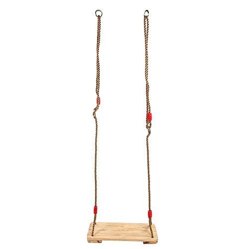 lahomie Schaukelsitz aus Holz,Holz Schaukel Holzschaukel Garten bis 150kg Child Kids Stabile PVC-Schaukel für das Spielen im Innen- und Außenbereich -(Holz)