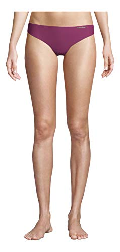 Calvin Klein Women's Invisibles No Panty Line Thong Panty, Loyal, Medium