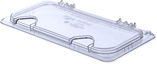 Carlisle 10280Z07 EZ Access Hinged Lid with Handle and 2 Notches, Third Size, Clear