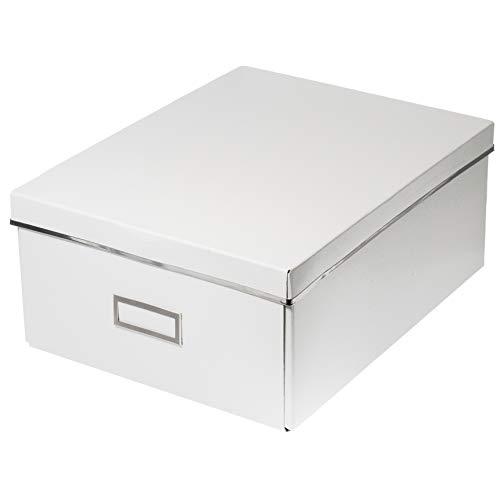 Ikea SMARASSEL Box mit Deckel in weiß; (27x35x15)