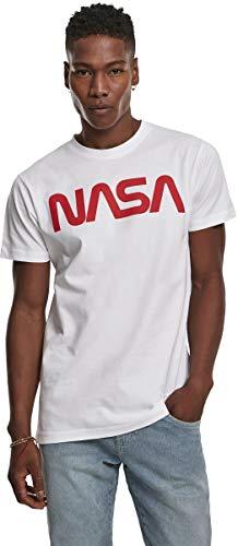 Mister Tee NASA Worm tee Camiseta, Blanco, S para Hombre