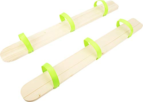 small foot 11583 Sommerski aus Holz, Spiel für drei Kinder gleichzeitig, fördert Teamfähigkeit, für den Garten geeignet