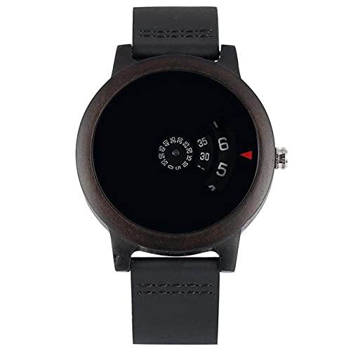 GIPOTIL Minimalista Tocadiscos Reloj de Madera Esfera única en Forma de Abanico...