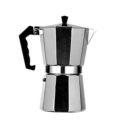 モカオクタゴナルコーヒーポット便利なアルミ合金コーヒーマシンカプチーノシルバーエスプレッソフィルターポット