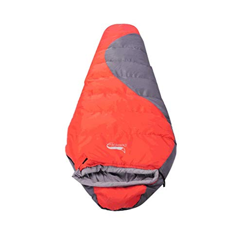 T-out Otoño e Invierno Momia Hueco de algodón al Aire Libre Saco de Dormir Doble Grueso Adulto Saco de Dormir Almuerzo Break Lock Bolsa de Dormir Camping,Red