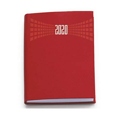 Agenda 2020 bigiornaliera 7x10 cm tascabile copertina matra' 2 giorni per pagina (Rosso)
