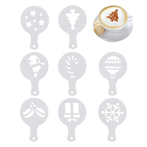 8 plantillas de plantillas de café capuchino, plantillas de café navideño, plantillas para pasteles, plantillas...