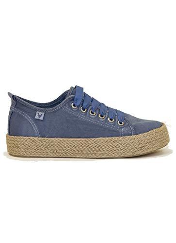 Walk in Pitas ADA - Zapatillas de Cuello bajo para Mujer, Color Azul
