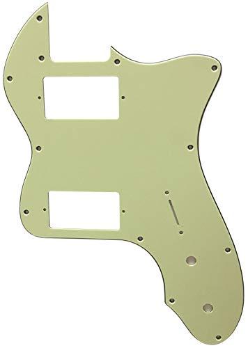 Partes para guitarra Fender '72 Telecaster Thinline PAF Golpeador, 3 capas de color verde vintage.