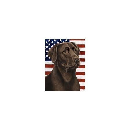 Chocolate Labrador Retriever Patriotic II Flag