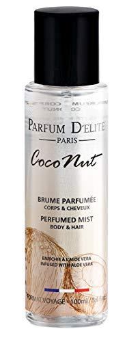 Parfum D'Elite Paris - Coconut - Bodyspray Körper & Haar - Für Damen - Leicht und erfrischend, Hinterlässt keine Flecken, 100 ml