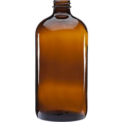Botellas Ambar Vacias de Plastico con Dispensador Pompa para Jabon, Champu, Acondicionador,...