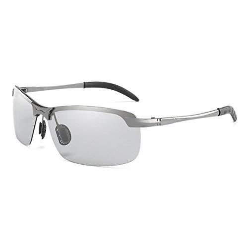 Gafas de sol fotocromáticas de conducción clásicas Persdico, gafas de sol polarizadas con decoloración de camaleón para hombres, gafas antideslumbrantes 3043