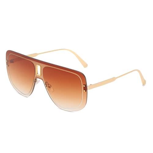 2021 Gafas de sol nuevas de las señoras, una gran capa de marco, gafas de accesorios frescos