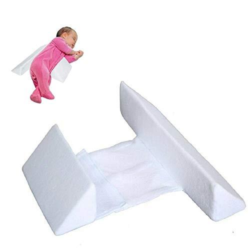 Posizionatore del cuneo per il sonno del neonato con i lati pillow Il cuscino per la cuccetta laterale del bambino impedisce il rotolamento , Utilizzato per regolare la postura del sonno del bambino