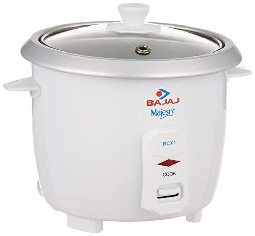 Bajaj Majesty RCX 1 0.4 Liters Rice Cooker, White