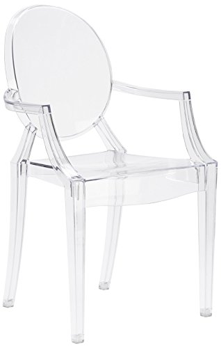 Poly and Bark Burton Arm Chair in Clear (Set of 4)