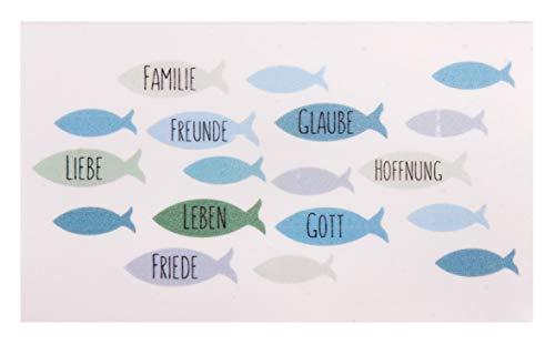 Rayher 31611405 Wachsmotiv Fische, blaugrün hell, 8,5 x 5 cm, 1 Stück, zum Gestalten von Kerzen (Firmung, Konfirmation, Kommunion etc.)