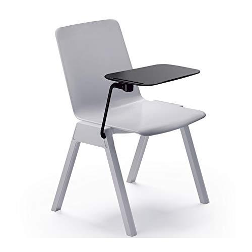 WJJ Silla de Sala El apilamiento de sillas de Oficina Moderna Silla de Comedor for oficinas, formación, conferencias, Iglesias, centros comunitarios Aula Sillón Relax (Color : B)