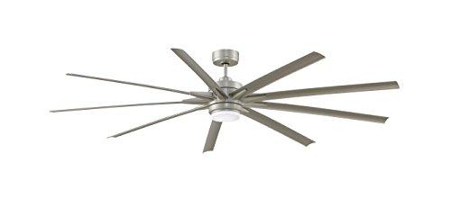 """Fanimation FPD8159BNWBN Odyn Ceiling Fan with LED Light Kit, 84"""", Brushed Nickel"""