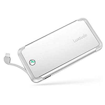 Luxtude PowerEasy 10000mAh Slim Portable Phone Charger for Samsung Galaxy, LG, Pixel, Nintendo and Android Phone, USB C Power Bank with USB C Cable and Input Port, Fast Charging External Battery Pack…