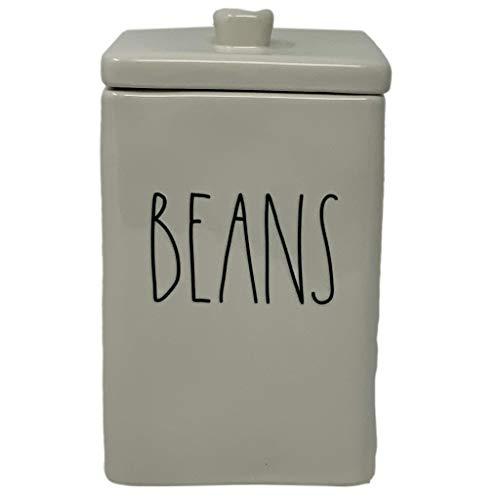 RAE DUNN BY MAGENTA Kanister aus der Artisan-Kollektion, quadratisch, ideal für Ihre Rae Dunn Küchendekor-Kollektion Ideal für Bohnen, Reiskekse, Süßigkeiten oder Leckereien