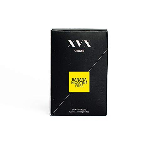 XVX CIGAR Refill - Electronic Cigar Refill - Banana Flavour - 1800 Puffs Per 2 Pack - 900 Puffs Per Cartridge - E Cigarette - E Cigarettes Shisha - Nicotine Free