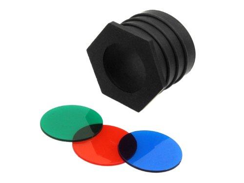 BEGADI Universal Wegrollschutz mit 3 Farbfiltern für z.B. Walther & BE-X Taschenlampen