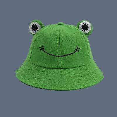 Sombrero de Cubo de Moda para Mujer Nuevo Sombrero de Verano Padre femenino-Green-1-M