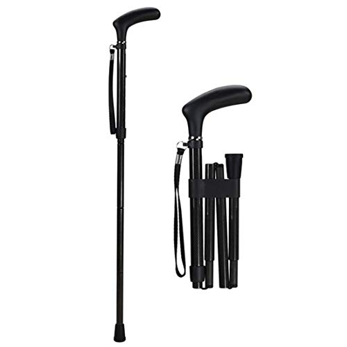 WENTAO Opvouwbare wandelstok Verstelbare Carbon Crutch Ultralight 0.2KG massief hout anti-slip voor ouderen Unisex Rietje Mobiliteit Aid/78.5-88.5Cm Bestand tegen gewicht 120KG