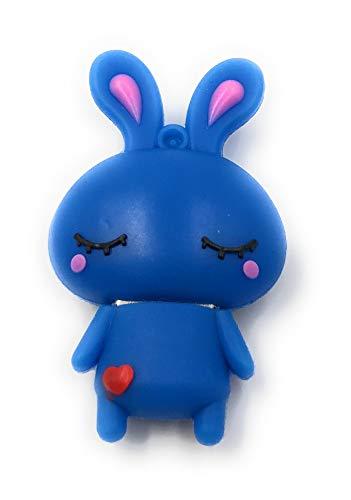 Onlineworld2013 Hase niedlich süß in blau Funny USB Stick 8 GB USB 3.0