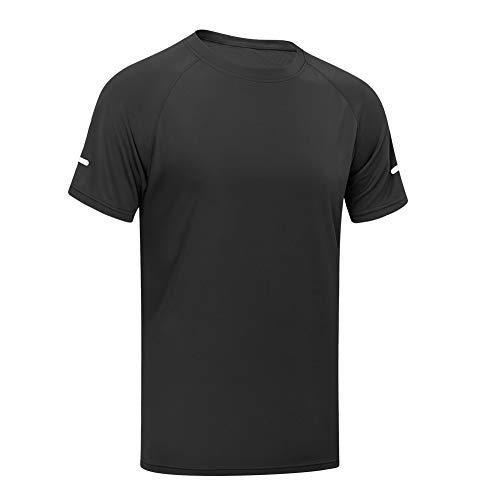 MEETYOO Sporttröja för män, kortärmad t-shirt löpning topp andningsbar gym t-shirt för träning jogging fitness
