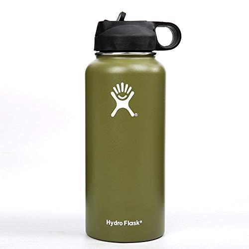 WENSISTAR Vakuum-Isolierte Isolierflasche ,Vacuum Stainless Steel Vacuum Flask, Large-Capacity Sports Bottle, Gradient car Water Cup@Green_32oz,Vakuum-Isolierte Thermoflasche