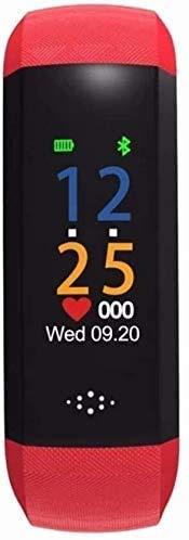 ZHENAO Fitness Tracker Smart Blood Pressure Bracelet Bluetooth Sports Meter Step Heart Rate Oxygen Sleep Red Sport Fitness Tracker Daily wear