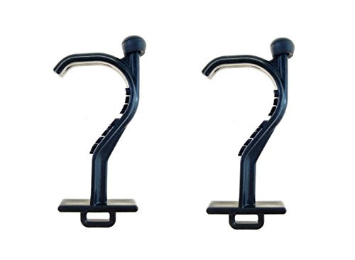 Kooty Key Germ Utility Tool - Avoid Touching Bacteria Ridden Surfaces - Carabiner Included (Colors May Vary) (2 Pack, Black)