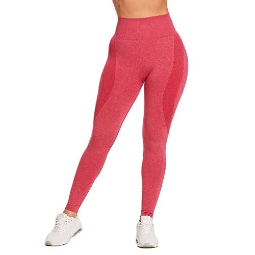 QTJY Pantalones de Yoga sin Costuras de Cintura Alta, Mallas Deportivas para Correr para Mujer, Pantalones Deportivos para Entrenamiento en Cuclillas, Pantalones Deportivos CS