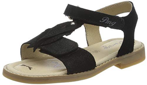 PRIMIGI flickor sandalo bambu T-spangen sandaler, Svart Nero 5439622-24 EU