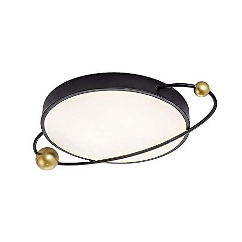 HLY Lampada moderna semplice, LED rotondo nero Dimmerabile 3000K-6000K Moderna 2021 Nuova plafoniera Soggiorno Camera da letto 18W Lampada da soffitto a risparmio energetico da incasso Apparecchio di