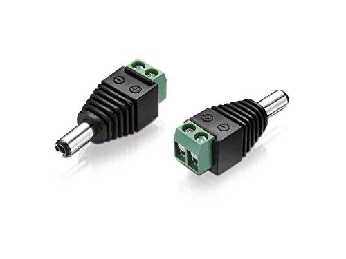 Sourcingmap/® 5 Pcs 2.5mm x 5.5mm DC Stecker Buchse Female Konnektor Adapter f/ür Power Cord de de