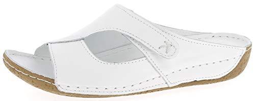 Andrea Conti Damen 0773402 Pantoletten, Weiß (Weiß 001), 41 EU