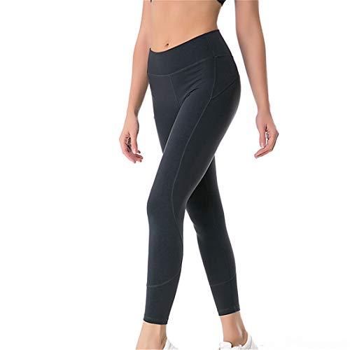 WY1688 Women Sport Leggings Legging Opaque Sportswear Sports Pants Yoga Pants Fitness Pants Streetwear Tights with High Waist B-Gray M
