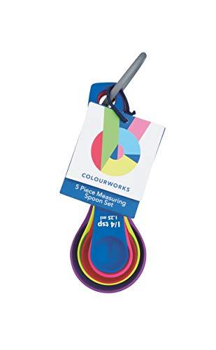 KitchenCraft Colourworks 5 Piece Measuring Spoon Set