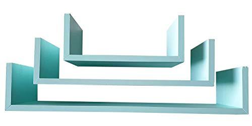 Muebles Pejecar Juego de 3 estanterias de Pared Fabricado en