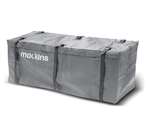 Mockins 100% Waterproof Gray Hitch Rack Cargo Carrier Bag 57' x 19' x 24' Made of Heavy Duty...