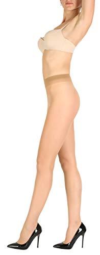 Giulia 12 DEN schützt bis zu 95% der direkten UV-Strahlen Damen Fein Strumpfhose Nylon Sommer durchsichtig Daino M