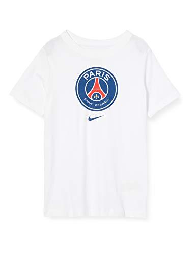 Nike PSG B Nk Tee Evergreen Crest, T-Shirt Bambino, White, XS