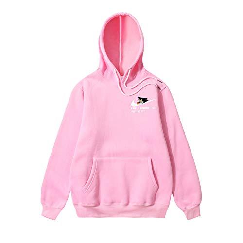 Goku Hoodie Just Do It Printed Hoodie Men's Casual Sweatshirt Pink