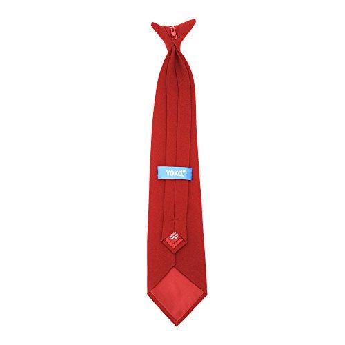 YOKO Cravate à clipser (Taille unique) (Rouge)