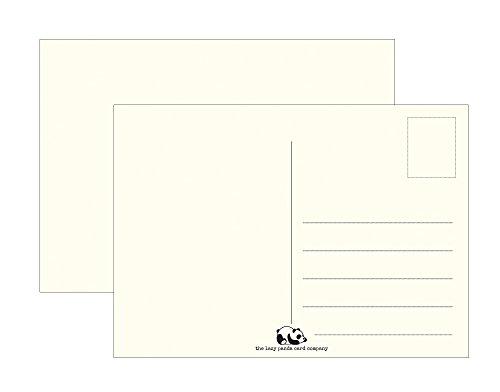 Postkarten Blanko - Leere Postkarten 45 Stück zum Selbstgestalten beschreiben oder bemalen extra dickes 300g Recycletes Papier Vintage für Kinder oder Erwachsene
