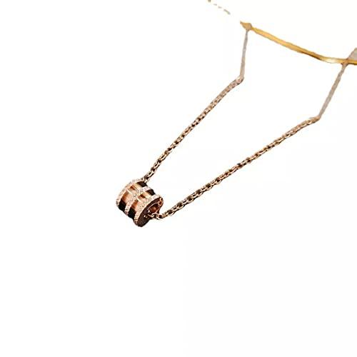 YQMJLF Collar Moda Accesorios Collares Mujer Collar Largo de Oro Rosa para Mujer, Nueva Tendencia, Collar con Colgante de joyería de Moda, clavícula de Acero Inoxidable y Titanio Joyas Regalos